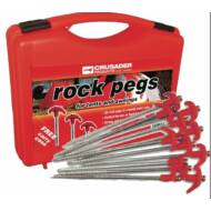 Rock pegs, sátorfeszítő cövek, piros, 20db, Crusader