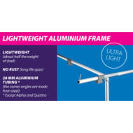 Olympic 240 elősátrakhoz, EasyGrip alumíniumváz 15-19 méretig