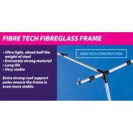 Olympic 240 elősátrakhoz, EasyGrip Fibre Tech Plus üvegszálas váz 15-19 méretig