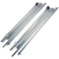 Kampa Rear Upright Pole Set, kiegésztő rudazat, acél, Kampa