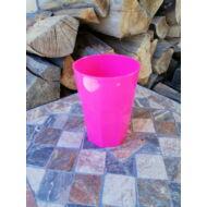 Polikarbonát pohár, magenta, 400 ml