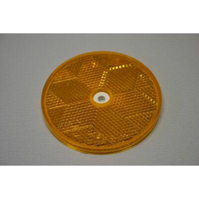 Prizma sárga, kerek, 80mm, csavarozható