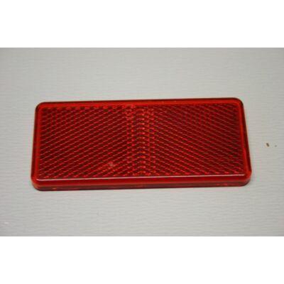 Prizma piros, 90x40mm, öntapadó