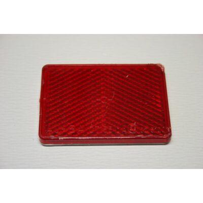 Prizma piros, 55x40mm, öntapadó