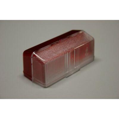 Szélességjelző búra, piros-fehér, 90x40mm