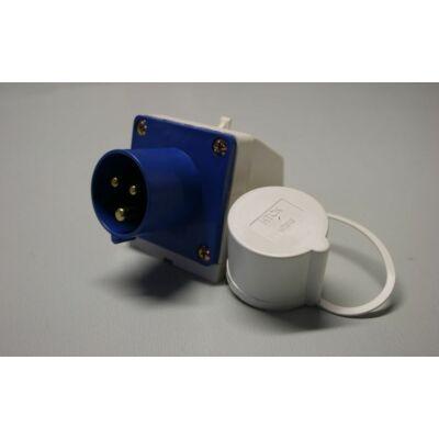 Csatlakozó aljzat 230V, kívülre szerelhető, IP44, Kampa