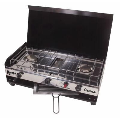 Cucina dupla gázfőző, grill, Kampa