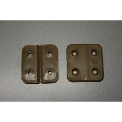 Ajtózsanér, műanyag, barna, 45mm, 2db/csom. W4