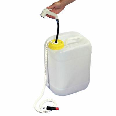 12V-os mobil tusoló víztartállyal