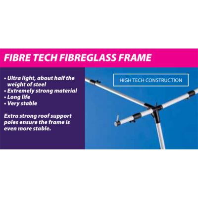 Olympic 240 elősátrakhoz, EasyGrip Fibre Tech Plus üvegszálas váz 10-14 méretig