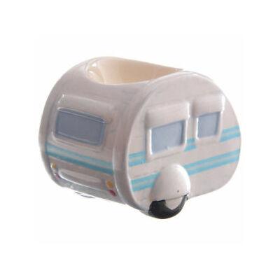 Lakókocsis tojástartó - kerámia - kék