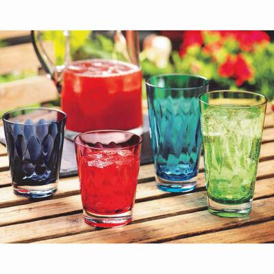 Akril pohárkészlet - 16 darabos, Pandex