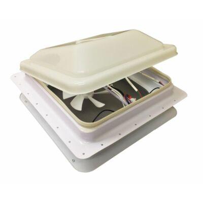 Tetőablak, ventilátoros, LED lámpás, szúnyoghálós, 36x36, Seaflo