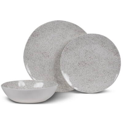 Kampa Natural Stone melamin étkészlet, 12 darabos, Kampa