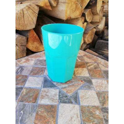 Polikarbonát pohár, türkiz, 400 ml