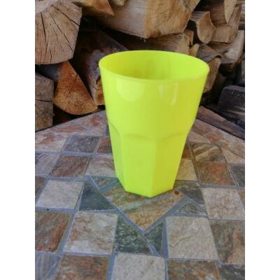 Polikarbonát pohár, neon sárga, 400 ml