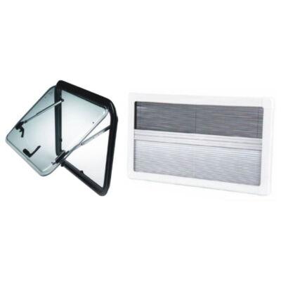 Oldalablak ablak, nyitható, keretes, komplett, rolóval, 700 x 300, Masis